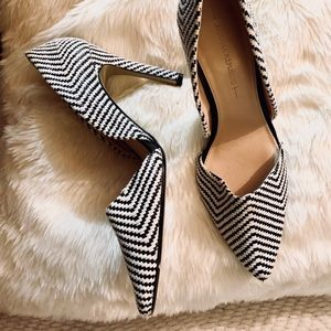 Banana Republic Black/White Adelia D'Orsay